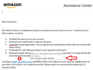 Spoofing Amazon Email